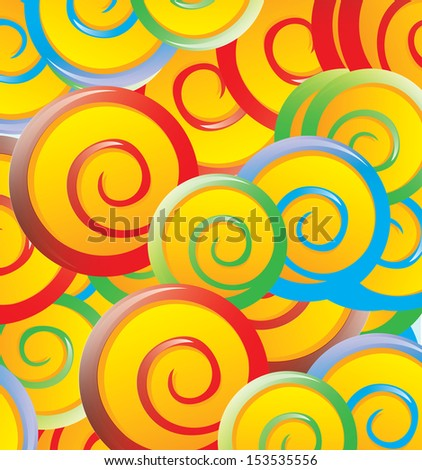 lollipops design over pattern background vector illustration  - stock vector
