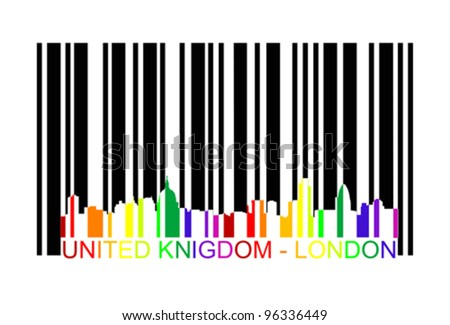 London bar code,  vector - stock vector