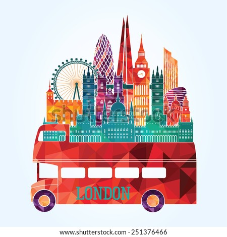 London city. Vector illustration - stock vector