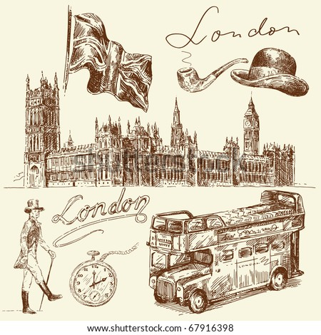 london collection - stock vector