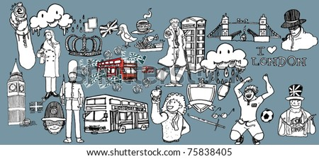 London drawing - stock vector