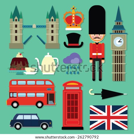 london icon set - stock vector