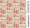 London icons seamless pattern - stock vector