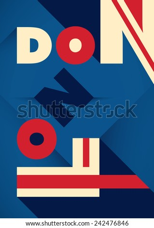 London poster with typography. Vector illustration. - stock vector