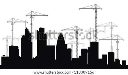 London skyline. - stock vector