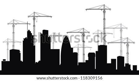 London skyline. - stock vector