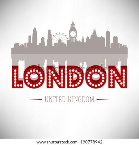 London Skyline Design, vector illustration. - stock vector