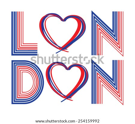 London typography, t-shirt graphics, vectors / - stock vector