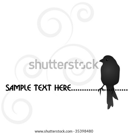 lonely bird - stock vector