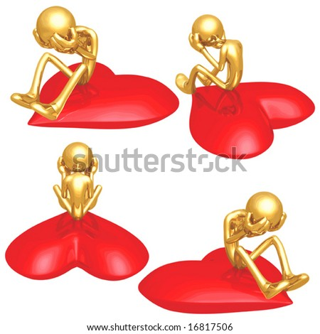 Lonely Heart Valentine - stock vector