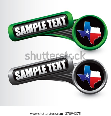 lonestar state on tilted tabs - stock vector