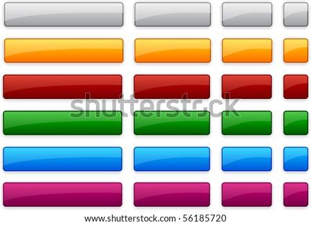Long and short rectangular buttons. Vector. - stock vector
