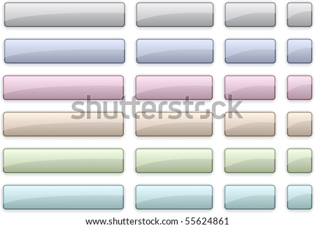 Long and short rectangular pale buttons.