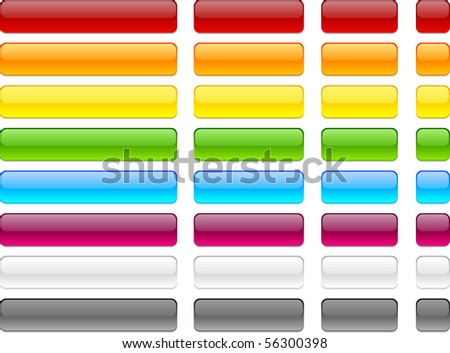 Long and short web buttons. - stock vector