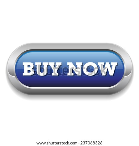 Long blue buy now button with metallic border