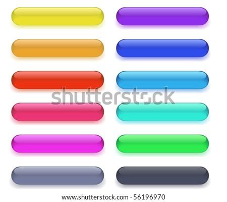 Long buttons - stock vector