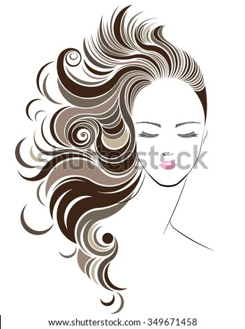 vector hair style stock hair style icon logo em vetor stock 349671458 6515 | stock vector long hair style icon logo women face on white background vector 349671458