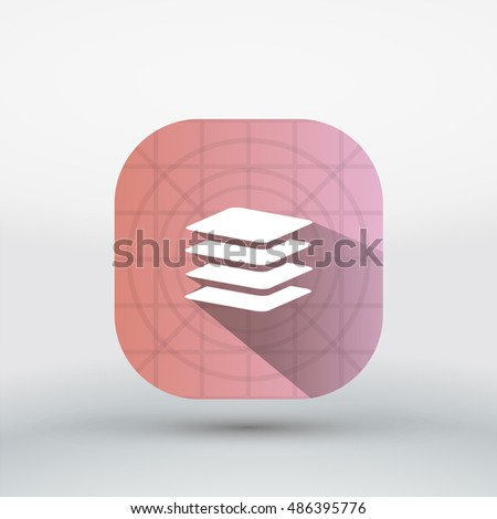 Long shadow Layers icon, App icon