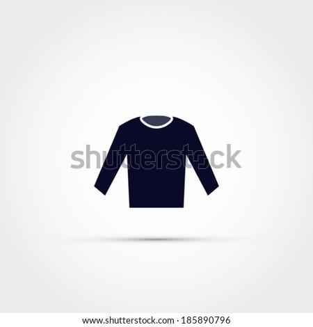 Long sleeve shirt icon - stock vector