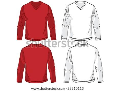 Long sleeve shirts - stock vector
