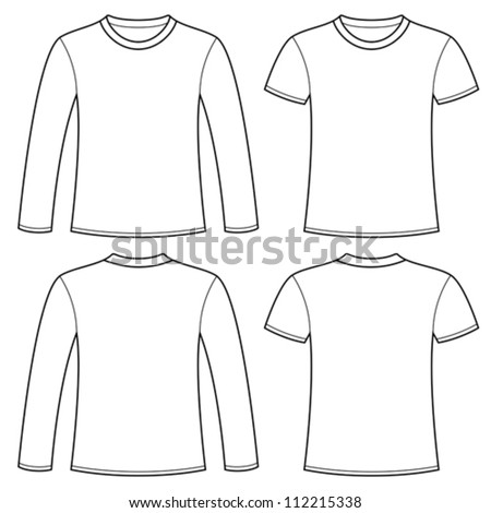longsleeved tshirt tshirt template stock vector 112215338 shutterstock. Black Bedroom Furniture Sets. Home Design Ideas