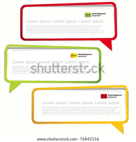 Long sticker in the form of an empty frame for your text. - stock vector