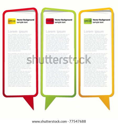 Long vertical oriented sticker in the form of an empty frame for your text.