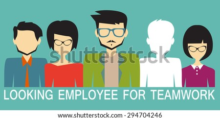 looking for an employee - stock vector