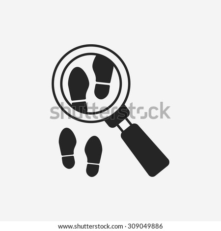Looking for clues icon - stock vector