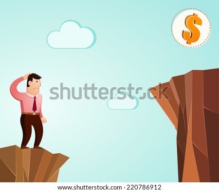 looking for ways and sollutions to achieve success - stock vector