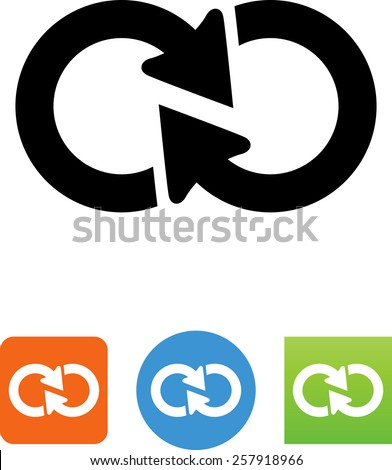 Loop symbol for download. Vector icons for your print project or Web site.  - stock vector