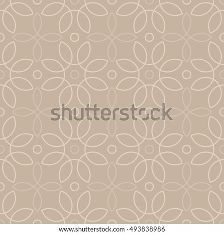 loops pattern 4 / Seamless vector pattern of abstract floral elements on beige background.