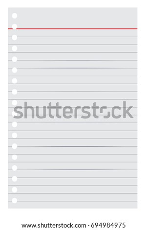High Quality Loose Leaf Paper For Your Background Or Element Design, Isolated On White  Loose Leaf Paper Background