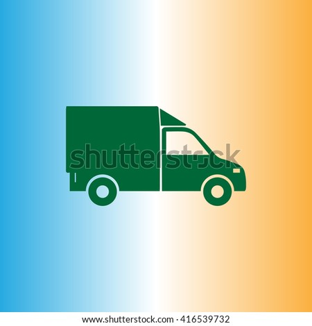 Lorry icon,  vector illustration. Flat design style