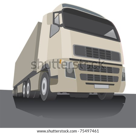 Lorry, stylized vector illustration - stock vector