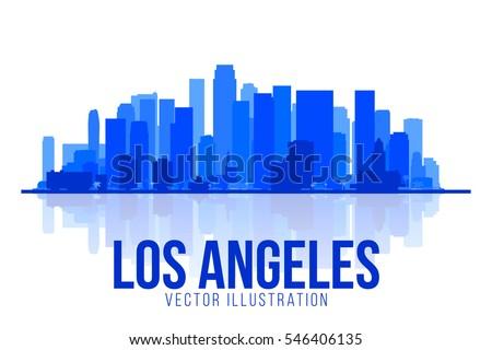 los angeles california united states silhouette stock vector rh shutterstock com