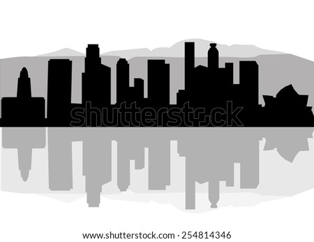 los angeles city silhouette