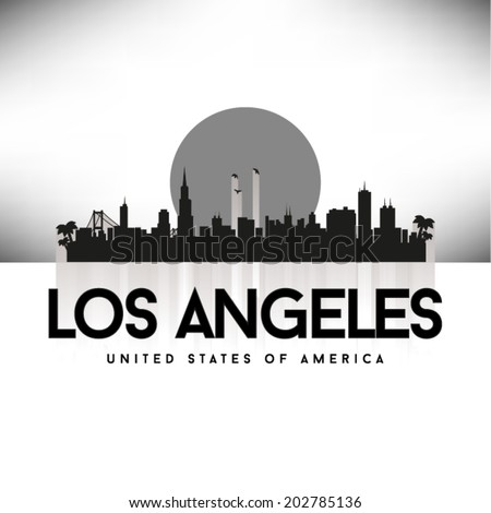 Los Angeles United States of America skyline, vector illustration. - stock vector