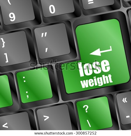 Lose weight on keyboard key button. vector illustration