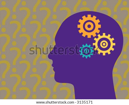 Lost in thought - stock vector