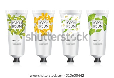 Lotion Packaging Template : Vector Illustration - stock vector