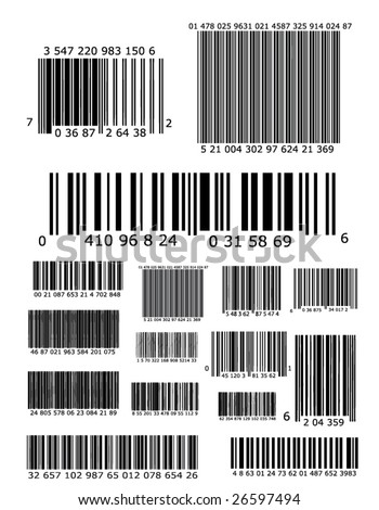 Lots of barcodes - stock vector