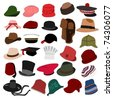 Lots of Hats Set 04 - stock vector