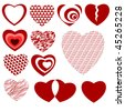 Lots of Heart Designs - stock photo