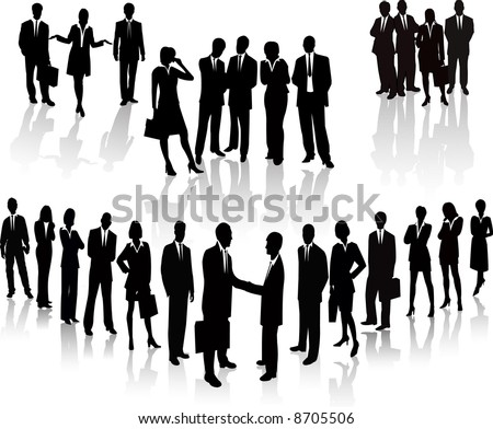 Lots of people. Business Team vector illustration