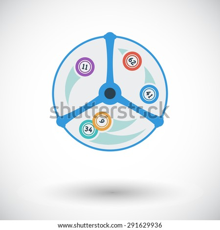 Lotteries. Flat vector icon for mobile and web applications. Vector illustration. - stock vector
