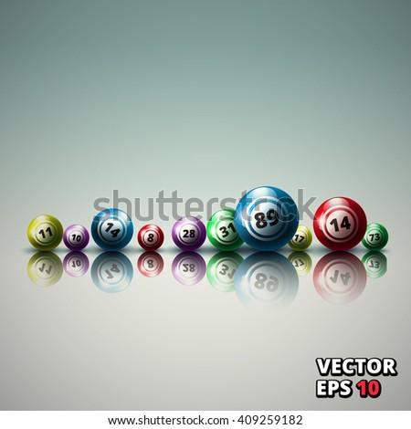 lottery balls bingo vector illustration  - stock vector