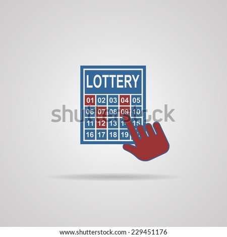 lottery ticket icon vector illustrations - stock vector