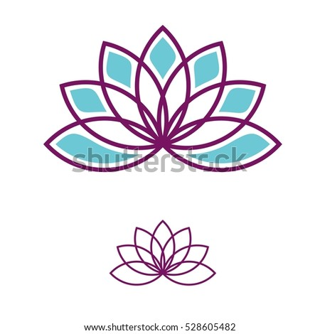 Lotus Flower Logo Template Stock Vector 528605482 - Shutterstock