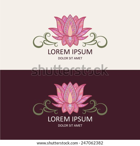 Lotus Icon and Logo Template. Vector Illustration. - stock vector